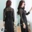 ชุดเดรสเกาหลี พร้อมส่ง Black Angelina Lace Long Shirt Dress thumbnail 5