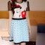 ( พร้อมส่งเสื้อผ้าเกาหลี) งานสวยเน้นเนื้อผ้า งานจริงเนื้อนิ่มพริ้วไหวได้ทรง มีซับใน มีซิปหลัง เดรสรุ่นนี้ ดูคลาสสิกและน่ารักหวานๆ ตามแบบเกาหลี ลายสวยชัดเจน สีสันเด่นชัด thumbnail 7