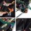 เสื้อผ้าเกาหลี พร้อมส่งจั้มสูททรงขาสั้น พิมพ์ลายผีเสื้อหลากสีสดใสบนผ้าพื้นสีดำ thumbnail 5