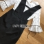 เสื้อผ้าแฟชั่น พร้อมส่งเสื้อผ้าลูกไม้สีขาวทับด้วยเดรสสีดำตกแต่งลูกไม้ thumbnail 14
