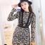 ชุดเดรสเกาหลี พร้อมส่งMini dress งานลูกไม้ทั้งชุด thumbnail 5