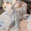 เสื้อผ้าเกาหลี พร้อมส่งเซ็ตชุดนอนผ้าคอตตอนลายตารางสีพาสเทล thumbnail 10