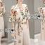 เสื้อผ้าเกาหลี พร้อมส่งเซ็ตเสื้อพิมพ์ลายดอกไม้สไตล์วินเทจและกางเกงทรง culottes ลุคนี้มาแบบเข้าชุด thumbnail 3