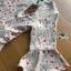 ชุดเดรสเกาหลี พร้อมส่งเดรสผ้าเครปพิมพ์ลายดอกไม้สีพาสเทลตกแต่งระบาย thumbnail 15