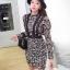ชุดเดรสเกาหลี พร้อมส่งMini dress งานลูกไม้ทั้งชุด thumbnail 2