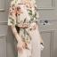 เสื้อผ้าเกาหลี พร้อมส่งเซ็ตเสื้อพิมพ์ลายดอกไม้สไตล์วินเทจและกางเกงทรง culottes ลุคนี้มาแบบเข้าชุด thumbnail 6