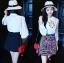 เสื้อผ้าเกาหลี พร้อมส่งเซ็ตเชิ้ตสีขาวและกระโปรงปักลายสไตล์ชนเผ่า thumbnail 8