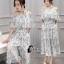 เสื้อผ้าเกาหลี พร้อมส่ง Clara Shoulder Off Top + Skirt Set thumbnail 6