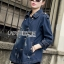 Gracie Fall Winter Double-Breasted Denim Coat thumbnail 6