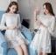 Isabelle Easy Sunday Feminine White Lace Dress thumbnail 1