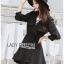 Jasmine Feminine Chic Black Outer Dress thumbnail 5