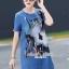 เสื้อผ้าเกาหลี พร้อมส่งGlitter Blossom Denim Dress thumbnail 3