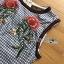 ชุดเดรสเกาหลี พร้อมส่งเดรสแขนกุดผ้าคอตตอนลายสก็อตปักลายดอกกุหลาบ thumbnail 13