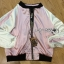 Sara Sporty Chic Floral Embroidered Satin Bomber Jacket thumbnail 9