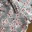 ชุดเดรสเกาหลี พร้อมส่งเดรสผ้าเครปพิมพ์ลายดอกไม้สีพาสเทลตกแต่งระบาย thumbnail 16