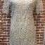 ชุดเดรสเกาหลี พร้อมส่งNelly Luxury Soft Silver Lace Cocktail Dress thumbnail 12
