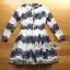 ชุดเดรสเกาหลี พร้อมส่งเดรสผ้าลูกไม้สีขาวตกแต่งสลับลาย thumbnail 15