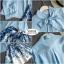 เสื้อผ้าเกาหลี เซ็ท 2 ชิ้นสุภาพ เสื้อ+กระโปรงเสื้อผ้าจอร์เจียร์ใส่สบายสุดๆ thumbnail 8