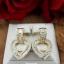 พร้อมส่ง Diamond Earring งานเพชร CZ แท้ ดีไซส์หัวใจ thumbnail 4