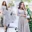 ชุดเดรสเกาหลี พร้อมส่งLong Dress -งดงาม สวยหรูและดูแพงมาก thumbnail 3