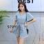 เสื้อผ้าเกาหลีพร้อมส่ง เพลย์สูท (จั้มสูทกางเกงขาสั้น) thumbnail 1
