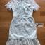 ชุดเดรสเกาหลี พร้อมส่งเดรสผ้าลูกไม้สีเขียวมิ้นท์สไตล์เปรี้ยวอมหวาน thumbnail 11