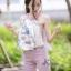 เสื้อผ้าเกาหลีพร้อมส่ง ชุดเซท เสื้อปล่อยชายลายผ้า สีสวย thumbnail 6