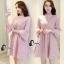 ชุดเดรสเกาหลี พร้อมส่งmini dress สีชมพูพาสเทล thumbnail 6