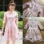 ชุดเดรสเกาหลี พร้อมส่งDress ค็อกเทลเดรสผ้าชีฟองสีชมพูปักดอกไม้ thumbnail 9