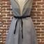 ชุดเดรสเกาหลีพร้อมส่ง Grey Princess Luxury 3D Floral Dress thumbnail 6