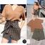 เสื้อผ้าแฟชั่นเกาหลีพร้อมส่ง เซตเสื้อ คอวี + กางเกงเอวสูงลายทาง thumbnail 2