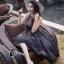 ชุดเดรสเกาหลี พร้อมส่ง Long Dress ช่วงบนทำด้วยผ้าตาข่ายลายลูกไม้ thumbnail 8