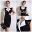 ( พร้อมส่ง ) Cliona Made ,Classic Tone Sassy & Smart Dress thumbnail 2