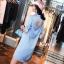 เสื้อผ้าเกาหลี พร้อมส่งกรี๊ดหนักมาก กับชุด Set เสื้อเชิ๊ตคอปกทรงยาวสีฟ้าสดใส thumbnail 10