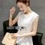 เสื้อผ้าเกาหลี พร้อมส่ง เสื้อผ้าลูกไม้สีขาวสไตล์คลาสสิก thumbnail 3