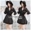 Jasmine Feminine Chic Black Outer Dress thumbnail 1
