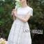 ชุดเดรสเกาหลี พร้อมส่งเดรสผ้าลูกไม้สีขาวสไตล์คลาสสิกสุดหวาน thumbnail 1
