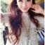 ชุดเดรสเกาหลี พร้อมส่งเดรสยาวผ้าลูกไม้ปักดอกกุหลาบสีขาวสไตล์เจ้าหญิงโบฮีเมียน thumbnail 3