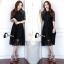 ชุดเดรสเกาหลี พร้อมส่งlong dress ลูกไม้นิ่มลื่นเกรดด thumbnail 3