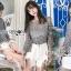 เสื้อผ้าเกาหลีพร้อมส่ง เสื้อผ้าลูกไม้ทอลายดอกไม้พร้อมซับในสายเดี่ยว thumbnail 3