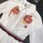 เสื้อผ้าเกาหลี พร้อมส่งเชิ้ตแนวเดรส สีขาวลายใหม่ผลิตออกมาให้ สวยเด่น thumbnail 12