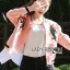 เสื้อผ้าเกาหลี พร้อมส่งบอมเบอร์แจ๊กเก็ตสีชมพูปักลายกุหลาบแดงสไตล์สปอร์ต thumbnail 2