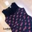 เสื้อผ้าแฟชั่นพร้อมส่ง Jumpsuit แขนกุดช่วงบนผ้าซีทรูลายตาราง thumbnail 5