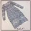 ชุดเดรสแฟชั่นพร้อมส่ง Dress ลูกไม้แขนยาวตัดขอบเอวด้วยสีพื้น thumbnail 3