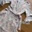 ชุดเดรสเกาหลี พร้อมส่งเดรสผ้าเครปพิมพ์ลายดอกไม้สีพาสเทลตกแต่งระบาย thumbnail 19
