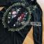เสื้อผ้าเกาหลี พร้อมส่งเชิ้ตเดรสปักลายดอกไม้สไตล์วินเทจ thumbnail 10