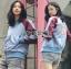 เสื้อผ้าเกาหลี พร้อมส่งบอมเบอร์แจ็กเก็ตสองสีปักลายสไตล์สตรีท thumbnail 3