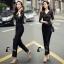 เสื้อผ้าเกาหลี พร้อมส่ง Luxury Black Lace Jumpsuite - Jumpsuite thumbnail 12