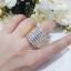 พร้อมส่ง Diamond Ring งานเพชรสวิส เพชร 7 แถวงานชุบ 5 ไมครอน thumbnail 3