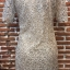 ชุดเดรสเกาหลี พร้อมส่งNelly Luxury Soft Silver Lace Cocktail Dress thumbnail 11
